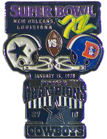 Super Bowl XII (12) Oversized Commemorative Pin