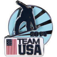 Team USA 2014 Snowboard Double Pin (Pin on Pin)