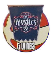 Washington Mystics WNBA Ball Logo Pin