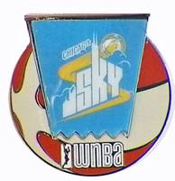 Chicag Sky WNBA Ball Logo Pin