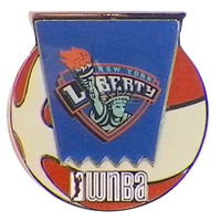 New York Liberty WNBA Ball Logo Pin