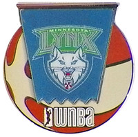 Minnesota Lynx WNBA Ball Logo Pin
