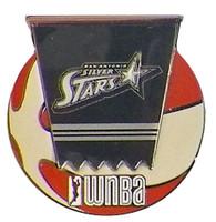 San Antonio Silver Stars WNBA Ball Logo Pin