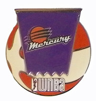 Phoenix Mercury WNBA Ball Logo Pin