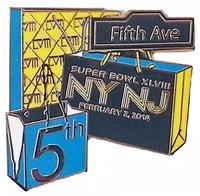 Super Bowl XLVIII 5th Avenue Shopping Pin