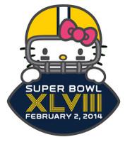 Super Bowl XLVIII (48) Hello Kitty Game Ball Pin