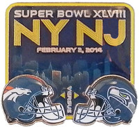 Super Bowl XLVIII (48) Broncos Versus Seahawks Pin - Translucent