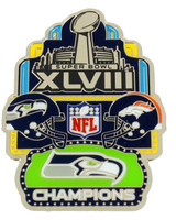 Super Bowl XLVIII (48) Champions Pin - Medium Collection