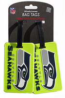 Seattle Seahawks Luggage Tag Neon 2-Pack