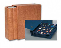 Deluxe Leatherette Collector Pin Album - Binder with 5 Pages