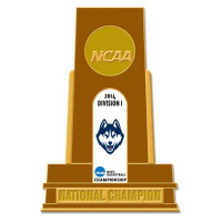 Uconn Huskies 2014 NCAA Basketball National Champs Trophy Pin