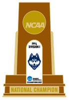 Uconn Huskies 2014 NCAA WOMENS Basketball National Champs Trophy Pin