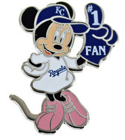 Kansas City Royals Minnie #1 Fan Disney Pin