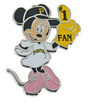 Pittsburgh Pirates Minnie Mouse #1 Fan Disney Pin