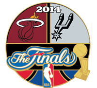 2014 NBA Finals Heat vs. Spurs Head to Head Pin