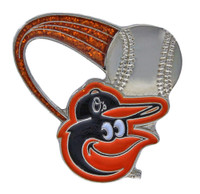Baltimore Orioles Glitter Trail Pin
