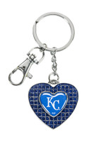 Kansas City Royals Glitter Stone Heart Key Chain
