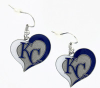 Kansas City Royals Swirl Heart Earrings
