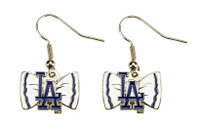 Los Angeles Dodgers Bow Earrings