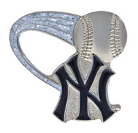 New York Yankees Glitter Trail Pin