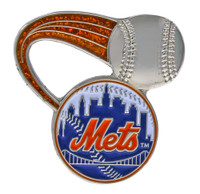 New York Mets Glitter Trail Pin