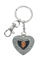 San Francisco Giants Glitter Stone Heart Key Chain