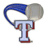 Texas Rangers Glitter Trail Pin