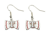 Texas Rangers Bow Earrings