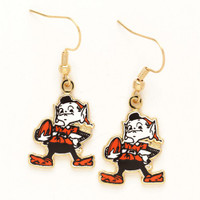 Cleveland Browns Mascot Earrings