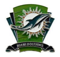 Miami Dolphins Logo Field Pin