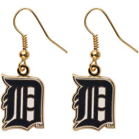 Detroit Tigers Earrings - Gold