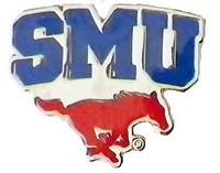 Southern Methodist Logo Pin