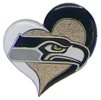Seattle Seahawks Swirl Heart Pin