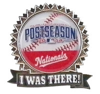 "Washington Nationals 2014 Post Season ""I Was There"" Pin"
