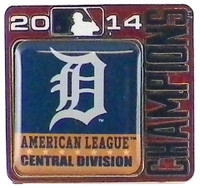 Detroit Tigers 2014 Division Champs Pin