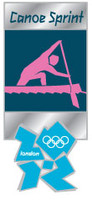 London 2012 Olympics Canoe Sprint Pictogram Pin
