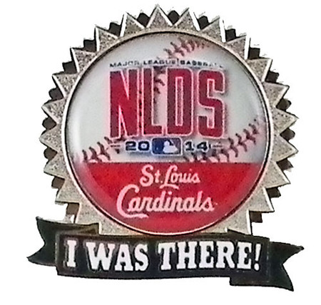 """St. Louis Cardinals 2014 NLDS """"I Was There"""" Pin"""