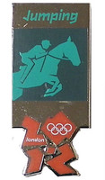 London 2012 Olympics Equestrian Pictogram Pin