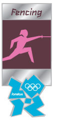 London 2012 Olympics Fencing Pictogram Pin