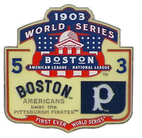 1903 World Series Commemorative Pin - Boston vs. Pittsburgh