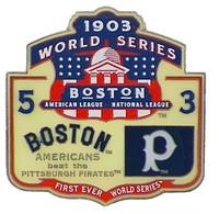 1903 World Series Commemorative Pin - Boston vs. Pittsburgh
