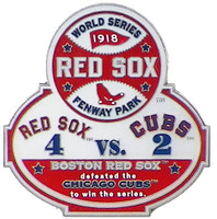 1918 World Series Commemorative Pin - Red Sox vs. Cubs