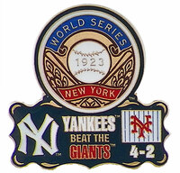 1923 World Series Commemorative Pin - Yankees vs. Giants