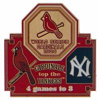 1926 World Series Commemorative Pin - Cardinals vs. Yankees