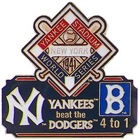 1941 World Series Commemorative Pin - Yankees vs. Dodgers