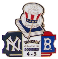 1956 World Series Commemorative Pin - Yankees vs. Dodgers