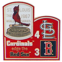 1967 World Series Commemorative Pin - Cardinals vs. Red Sox