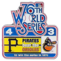 1979 World Series Commemorative Pin - Pirates vs. Orioles