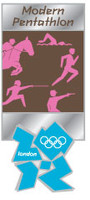 London 2012 Olympics Modern Pentathlon Pictogram Pin