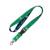 Notre Dame Fighting Irish Reversible Blue & Green Lanyard